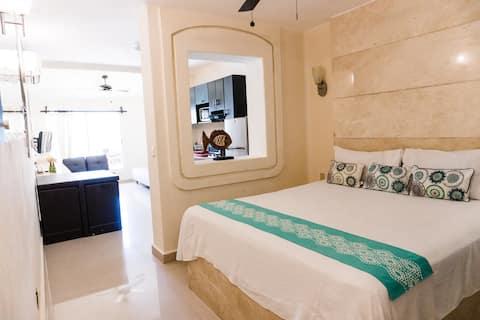 해변에 위치한 편안한 아파트