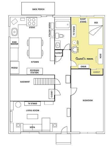 This is a layout to give you an idea of the house.