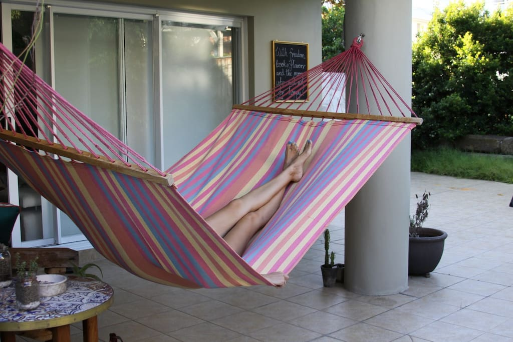 come and relax on this double hammock!