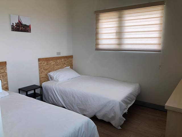 海景雙人房(二張單床)