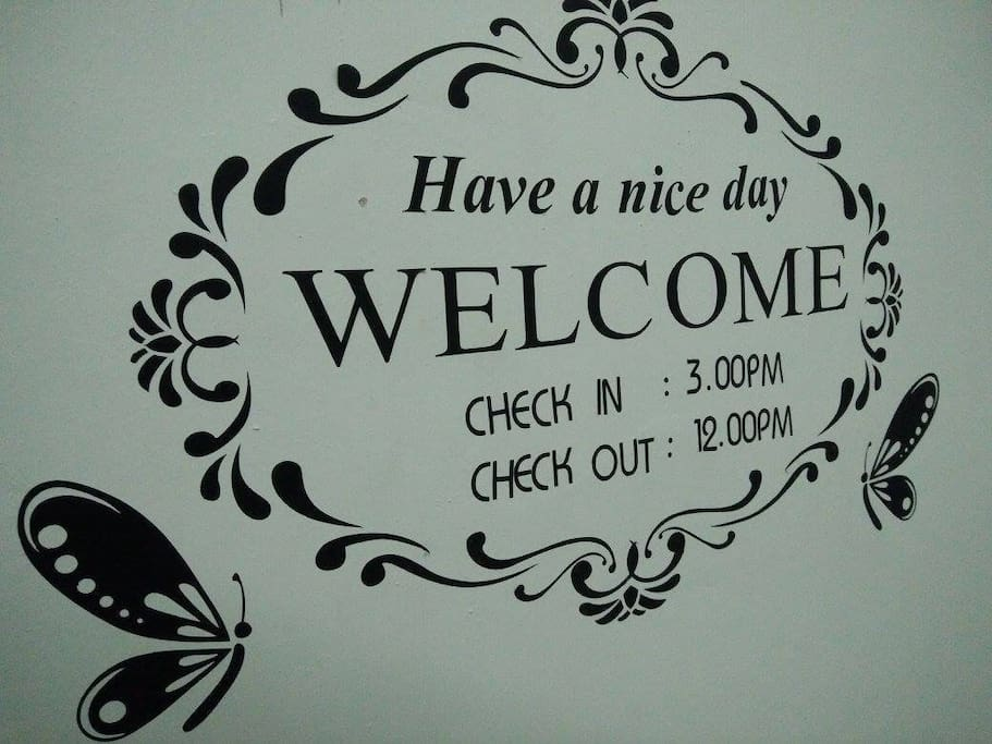 Check in & Check out time~* :)
