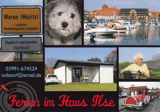 "Haus ""Ilse"" mit großzügigem Grundstück - Waren (Müritz) - Bungalow"