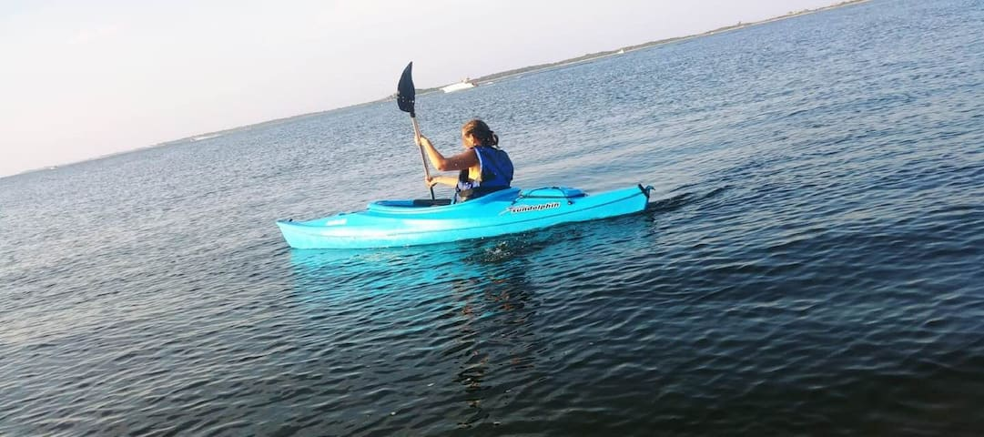 Kayak available in backyard! Use it on Popamora Point or Sea Streak Ferry on Shore Drive- less than 5 minutes away!