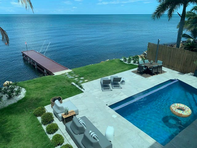 Ocean Front Luxury Villa with Private Pier & Pool