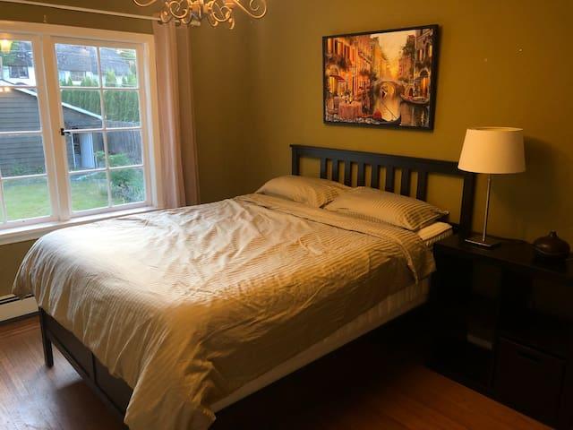 #201 Clean Floor Level Room with Garden Views