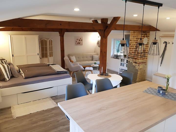Neu renovierte Einraum-FeWo auf dem Ferienhof