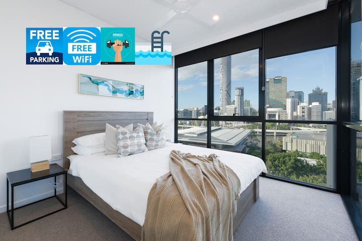 ★Riverview★ 2bed apt @ SouthBank w/ Pool & Parking