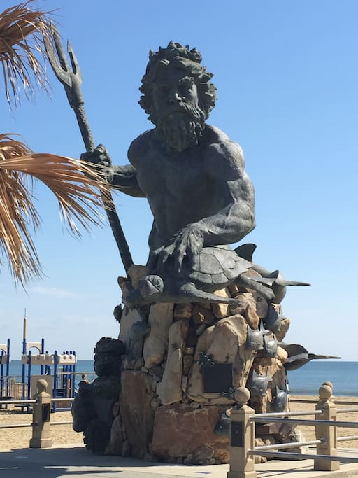 King Neptune is waiting to see you at the oceanfront.