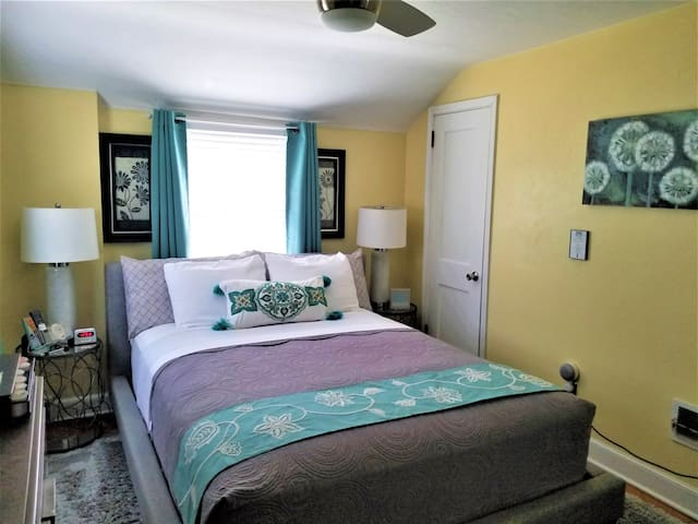 Private 2nd flr (1br & full bath) and private LR