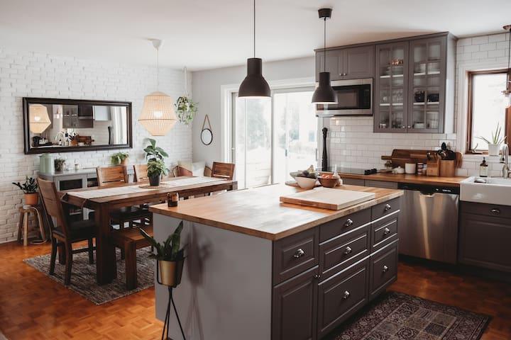 Belle maison familiale et chaleureuse près de tout