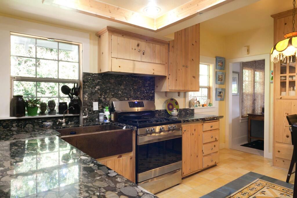 granite counter tops gourmet stocked