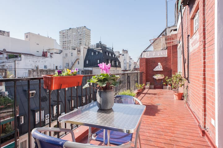 Apartment with terrace in Recoleta