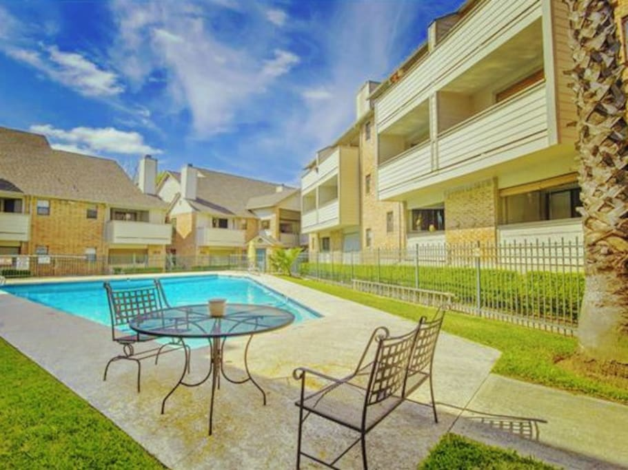 Gated 10-foot pool, umbrellas and furniture just added.