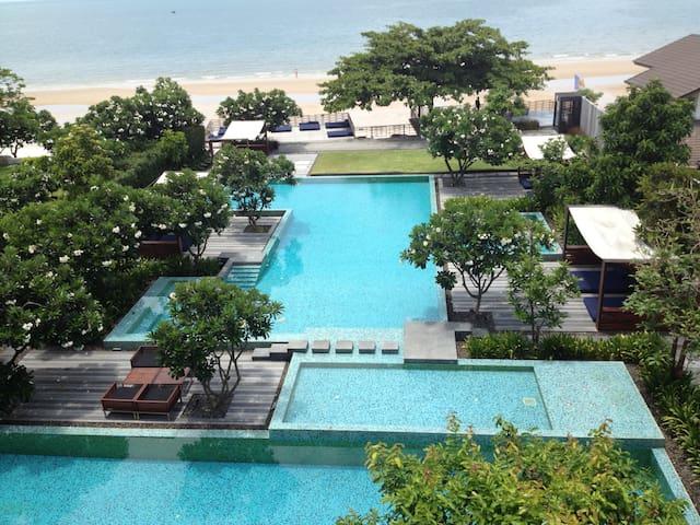 baan sanpleum beach front in town - Tambon Hua Hin - Lägenhet