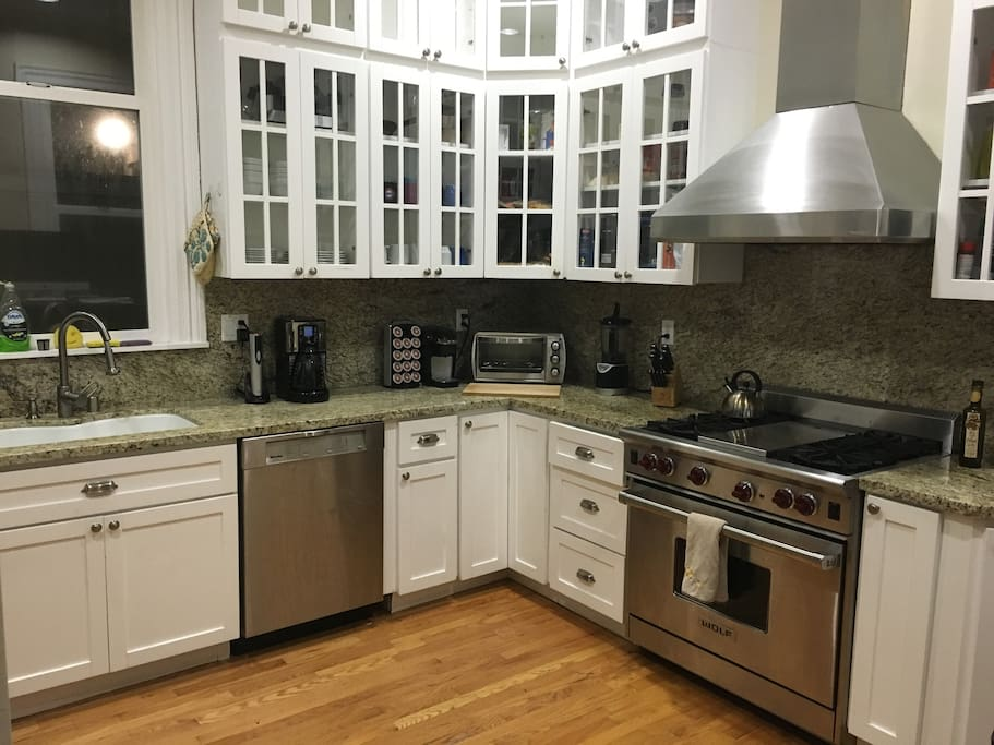 Kitchen w/ Wolf Range Stove