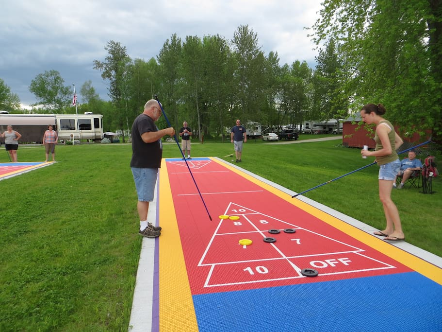 New shuffleboard courts