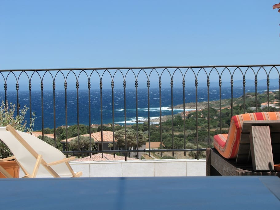 Vue mer depuis terrasse (2)