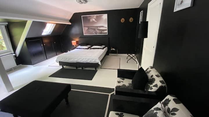 Ruime masterbedroom met en suite badkamer in Villa