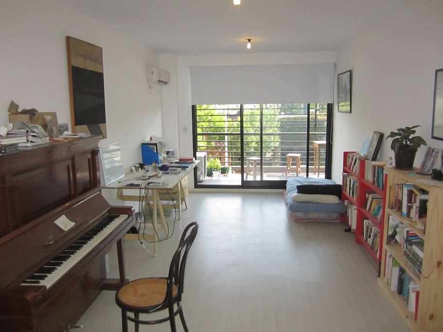 Spacious living-room.