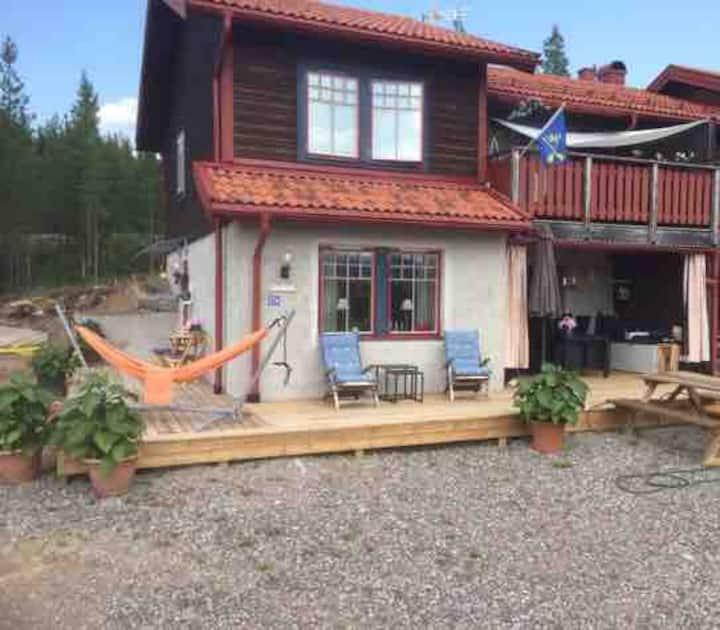 A semi-detached house in Fulufjällsbyn.