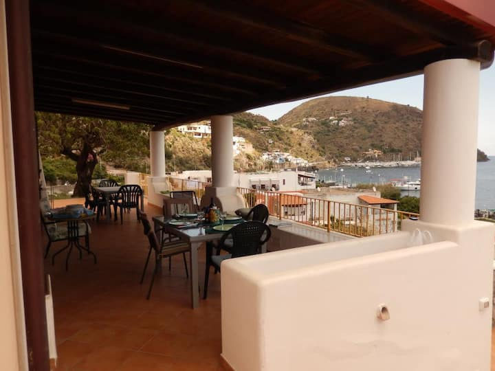 Seafront villa close to historic center of Lipari.
