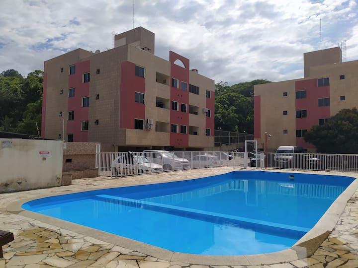 Ap Balneário perto do mar/piscina/ar/garagem