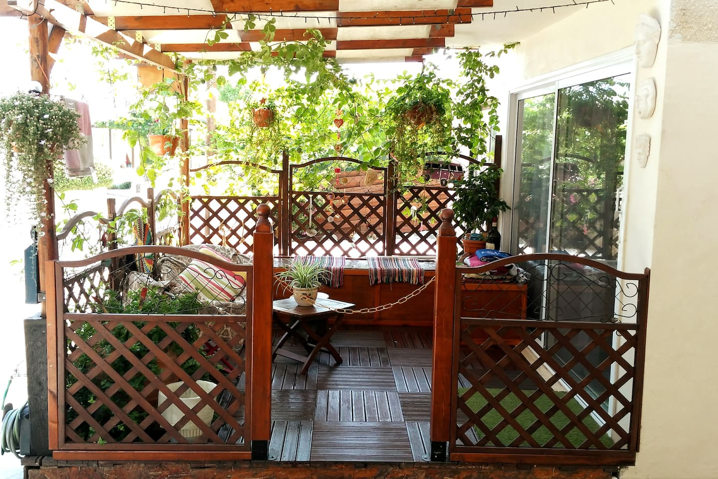 Private Verandah covered in Passion Fruit vines