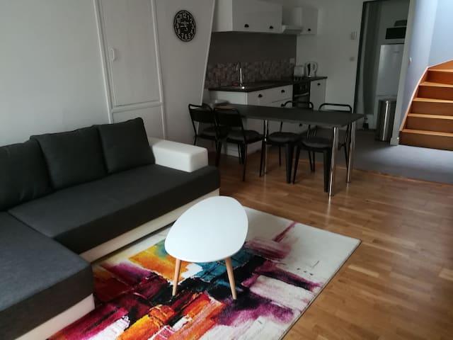 Appartement duplex au calme proche gare