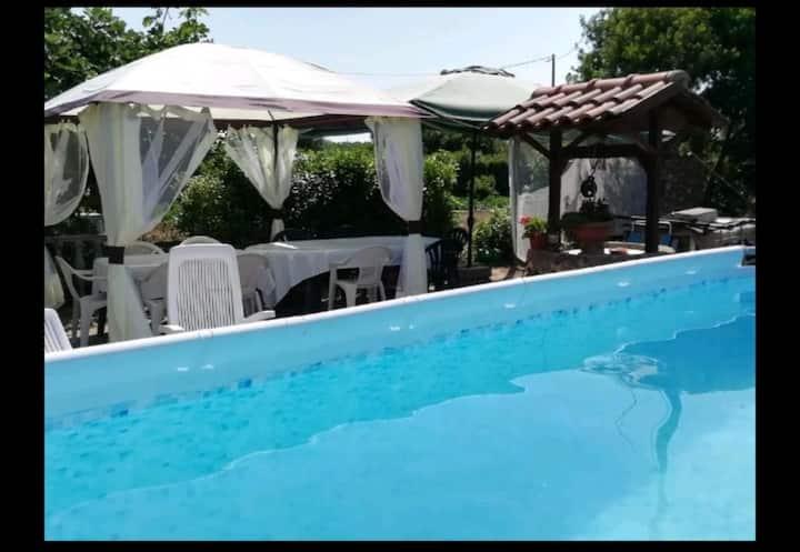 "HOLIDAY HOME ""GLI OLEANDRI"" with above ground pool"