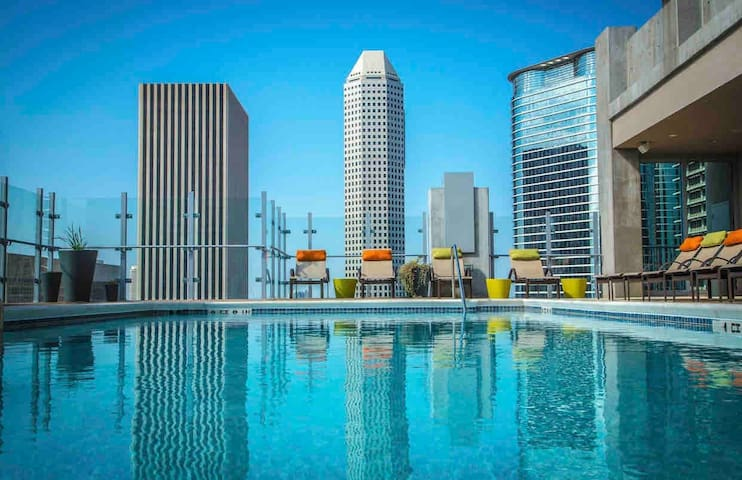 High Rise | Downtown| Deluxe King | Pool Deck