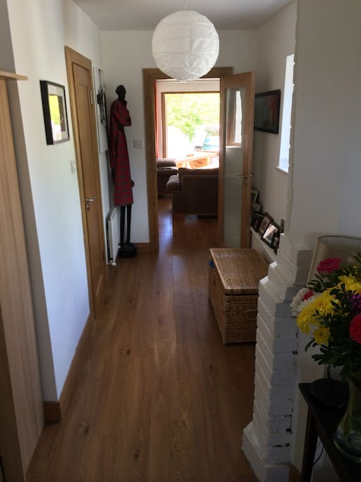 Hall leading to sitting room