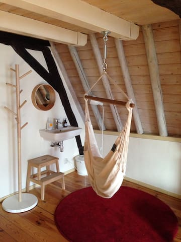 If you feel like relaxing, try the hammock chair!