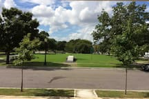City park across the street for exercise, picnics or relaxing.