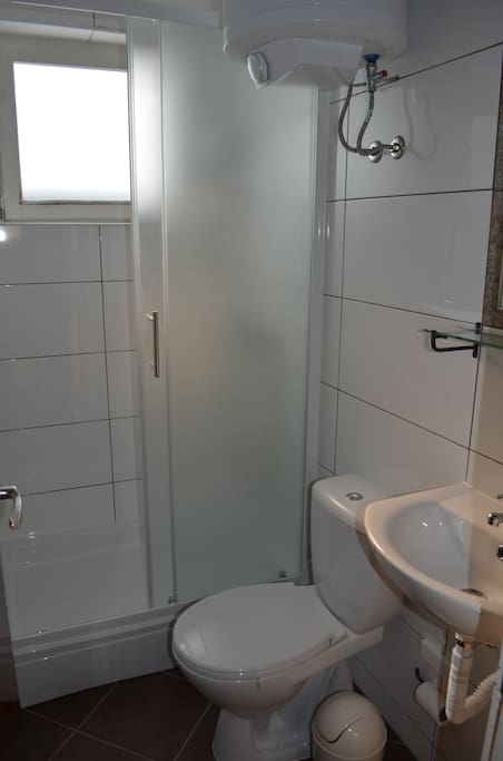 Newely renovated shared bathroom