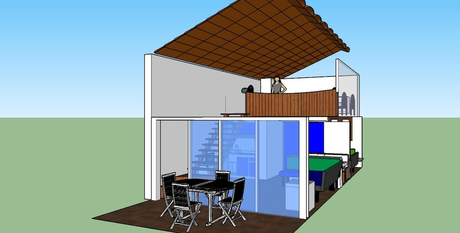 3D view of the apartment - from the outside