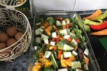 Healthy eating options available upon request