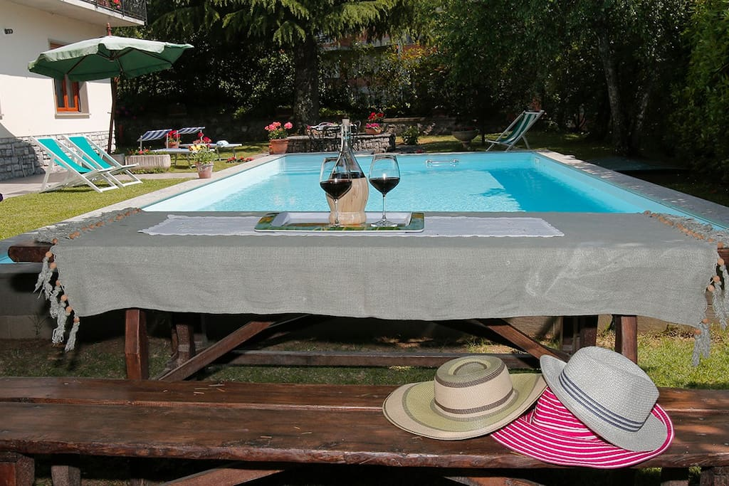 Lovely outdoor space with 9x4 metre pool and dining area