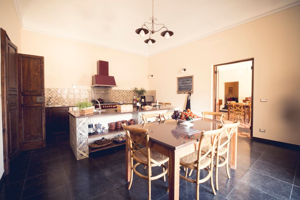 The kitchen is spacious, fully equipped and a foodie's dream!
