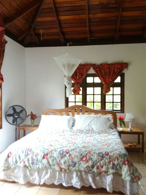 One of our bedrooms with king size bed