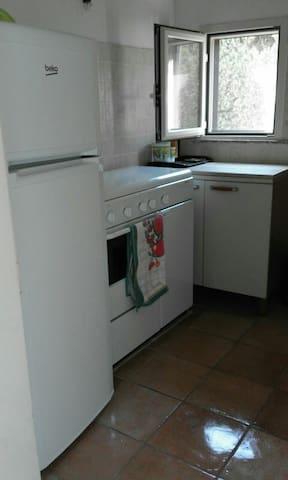 Kitchen, with new refridgerator