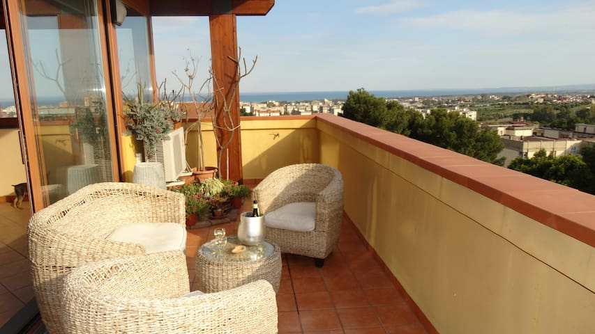 splendido attico panoramico