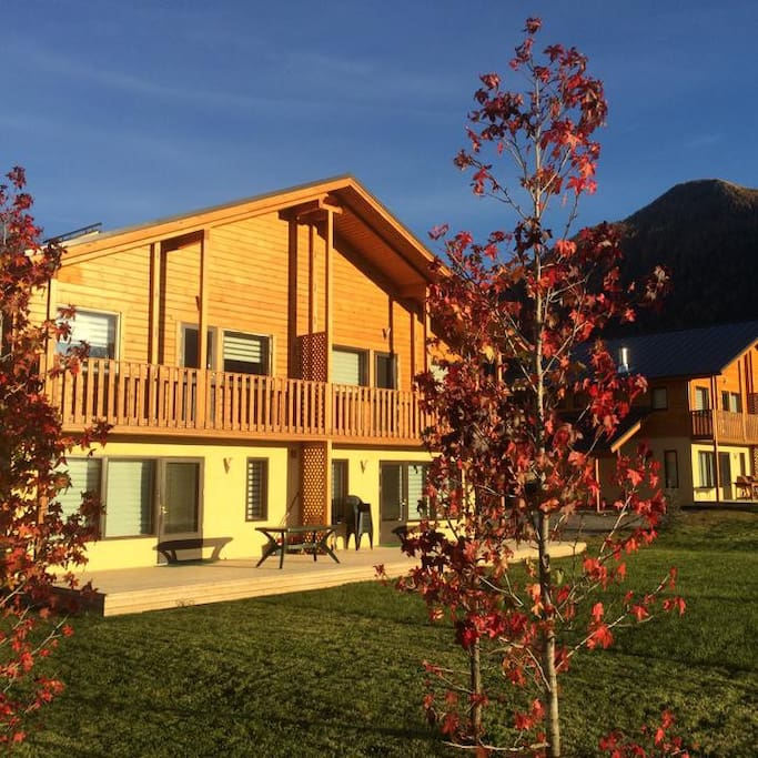 View of the chalets during autumn