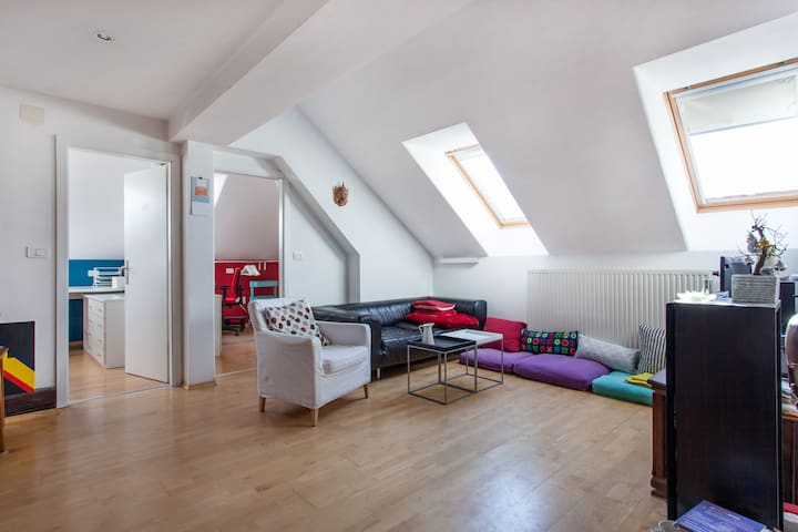 Warm Student Loft in Old CityCentre - Ljubljana - Loteng Studio