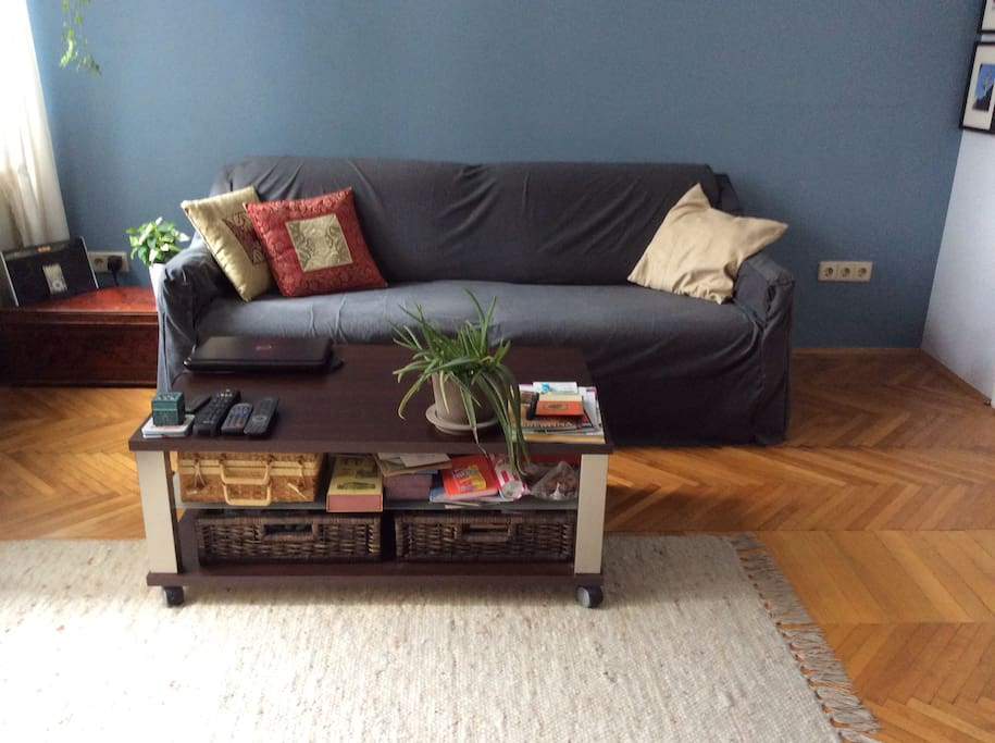 Double bed sofa in living room