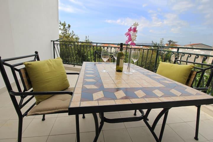 Terrace luxury apartment