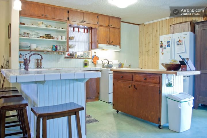 Full kitchen ready for scrambling eggs