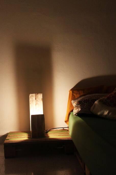 Bedroom beside bed light