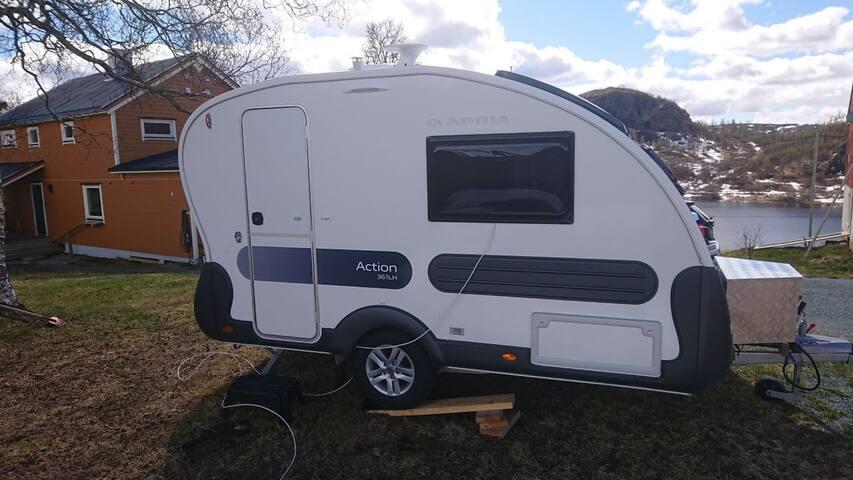 Liten campingvogn til leie
