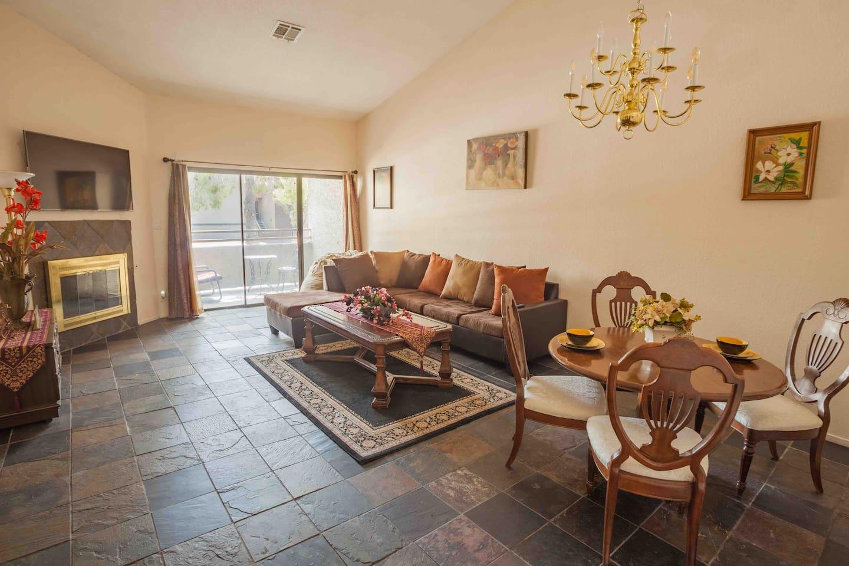 Living Room facing the balcony