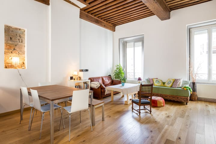 Bright spacious flat in Lyon city!